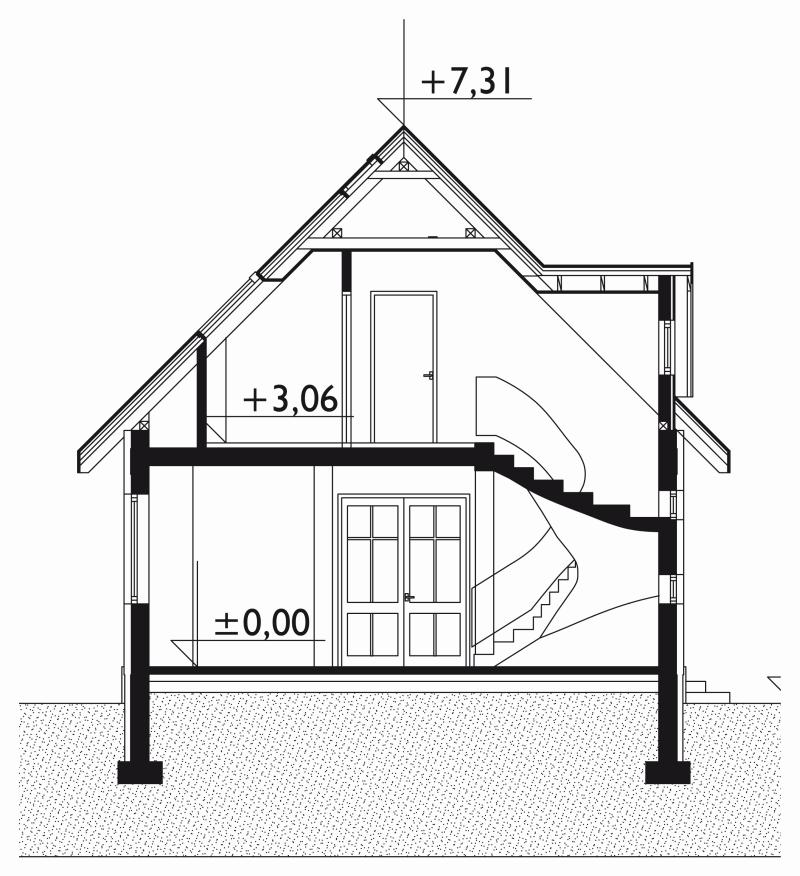 Проект дома Дробина - зеркальное отражение (E-120)