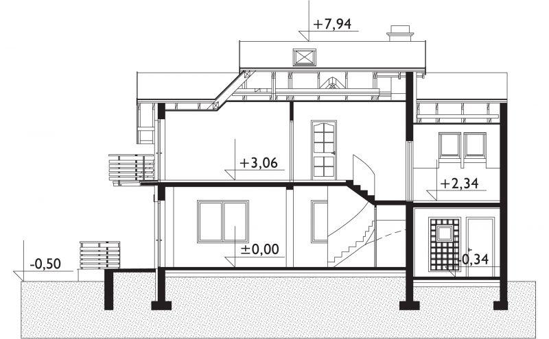 Проект дома Дроп-Дуо - зеркальное отражение (E-121)