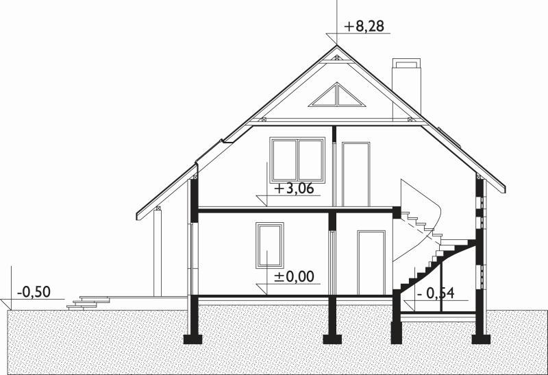 Проект дома Дрозд - зеркальное отражение (E-122)