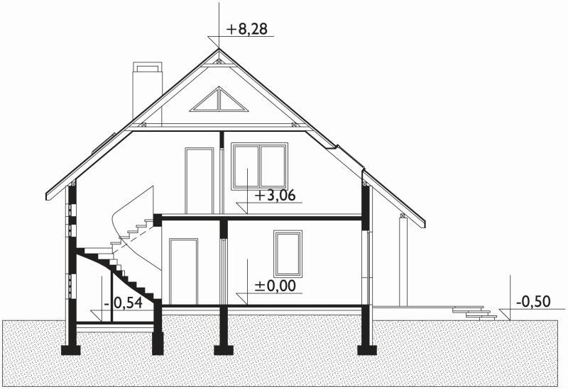 Проект дома Дрозд (E-122)