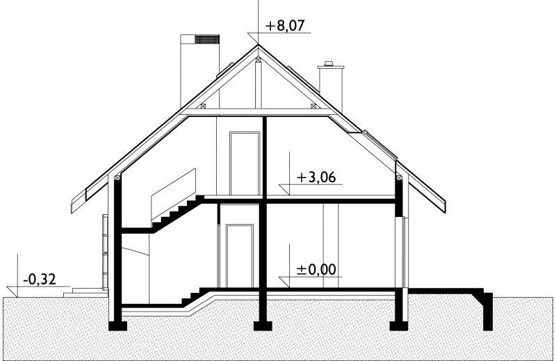 Проект дома Дрозд Эко (E-784)