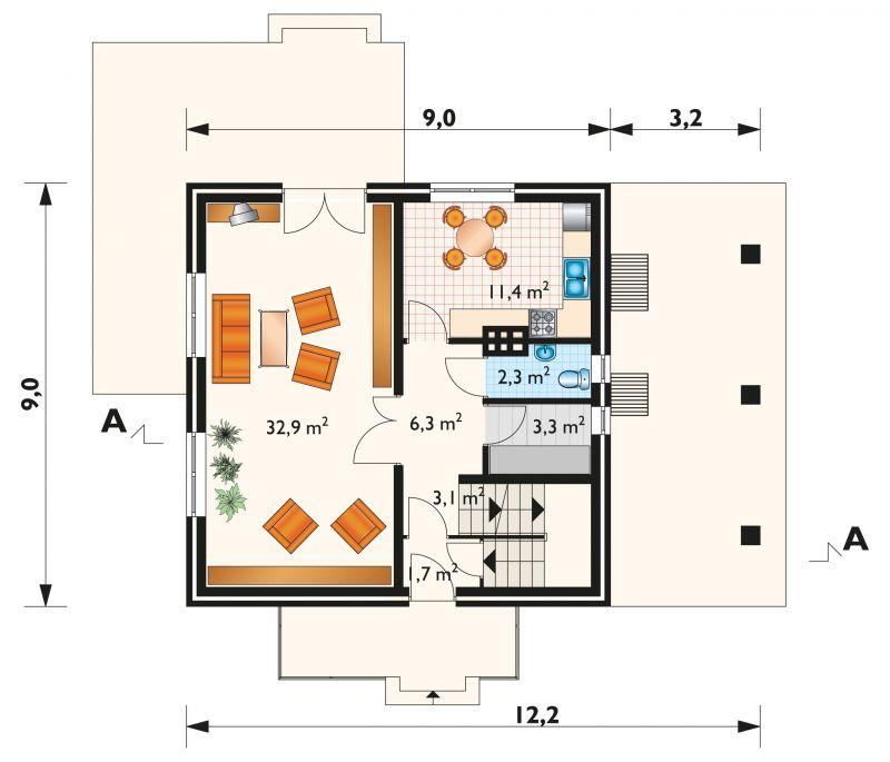 Проект дома Большой Гном - зеркальное отражение (E-127)