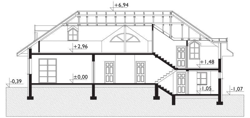 Проект дома Двор - зеркальное отражение (E-128)
