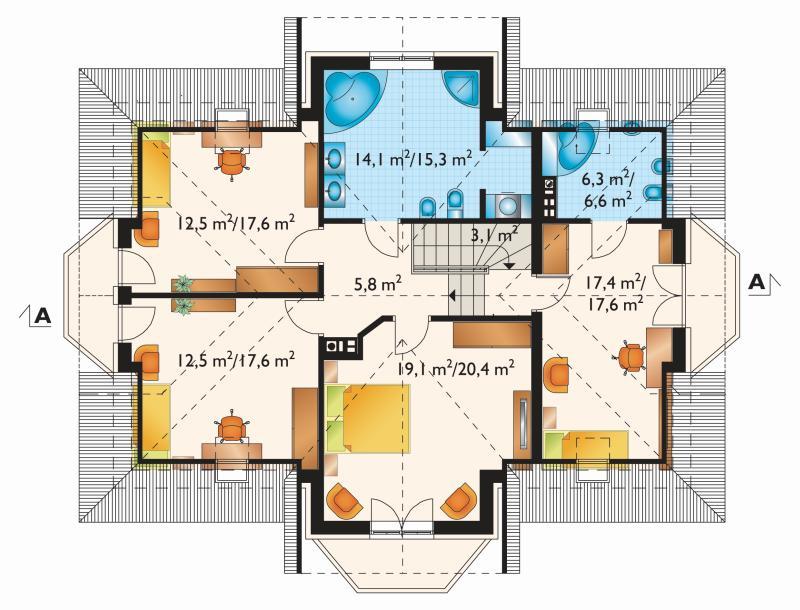 Проект дома Дымша Люкс (E-890)