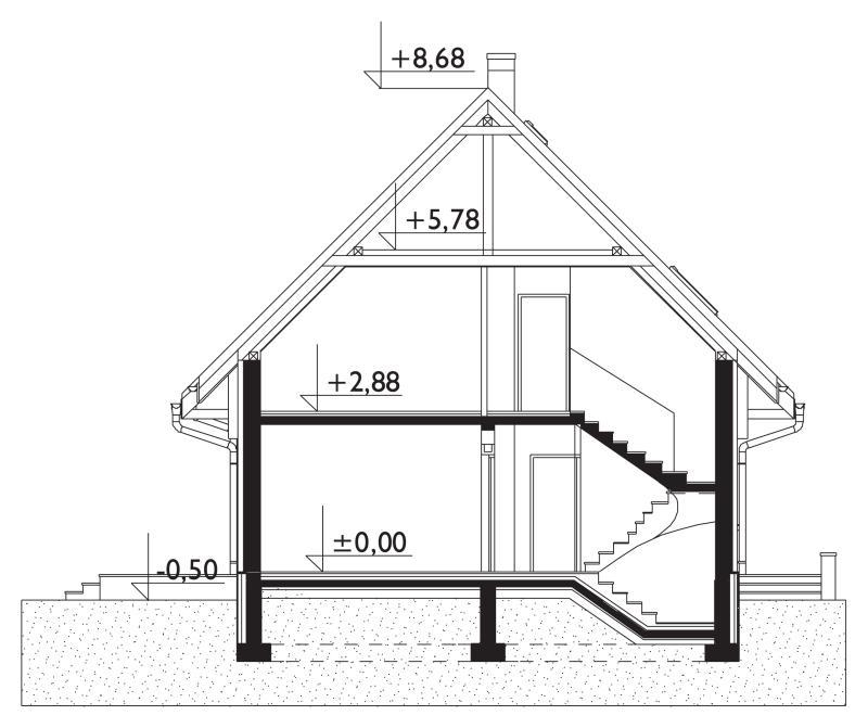 Проект дома Звонок - зеркальное отражение (E-135)