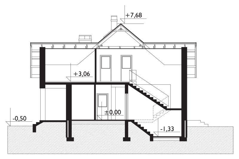 Проект дома Емельян - зеркальное отражение (E-138)