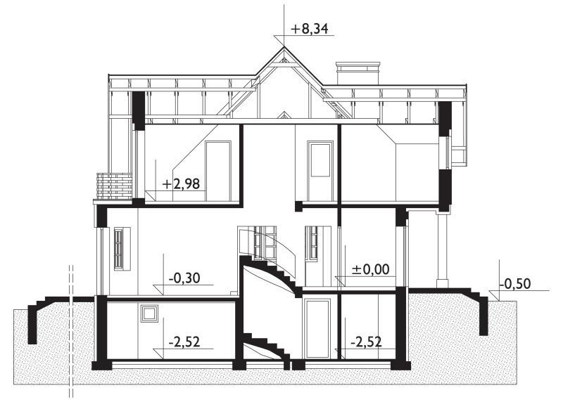 Проект дома Зевс - зеркальное отражение (E-143)