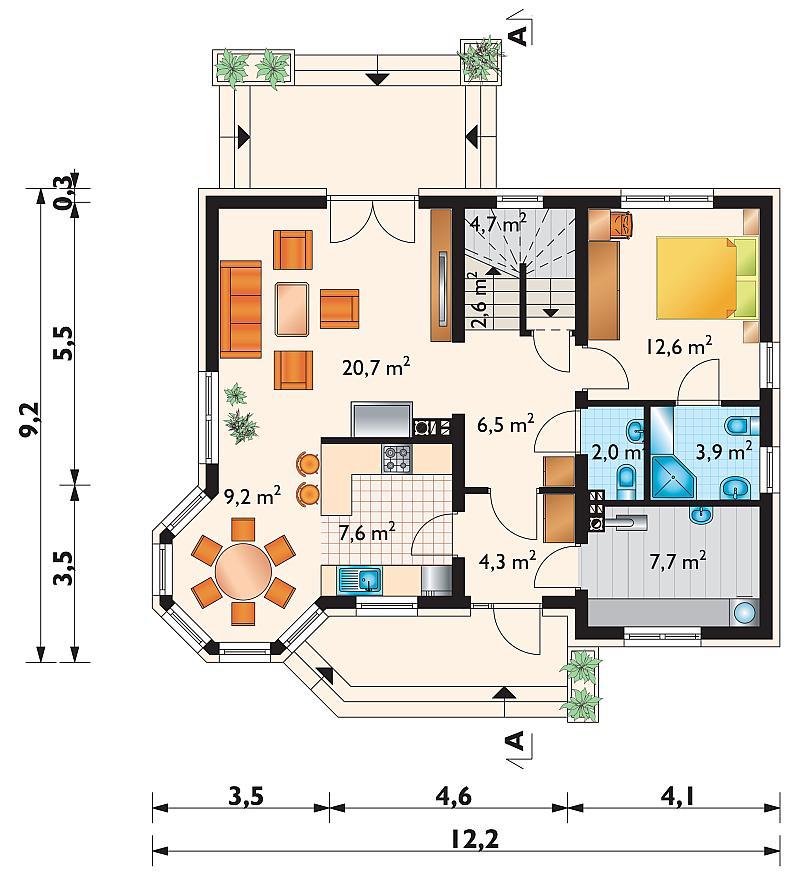 Проект дома Феля Рекс (E-1087)