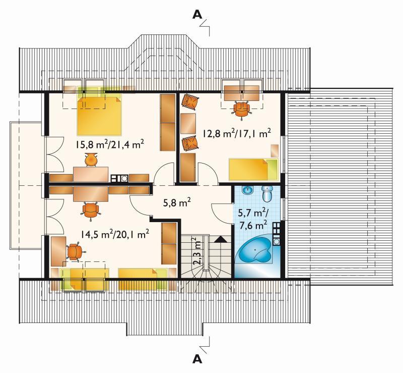 Проект дома Фига - зеркальное отражение (E-578)