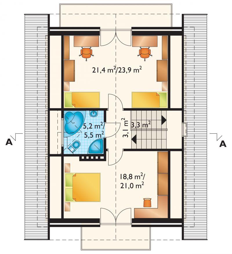 Проект дома Фикус - зеркальное отражение (E-148)