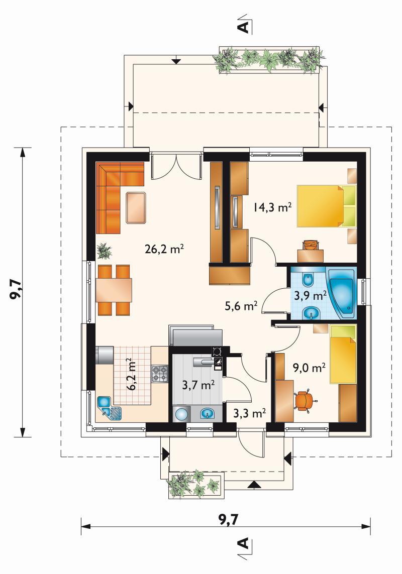 Проект дома Фиалка (E-1250)