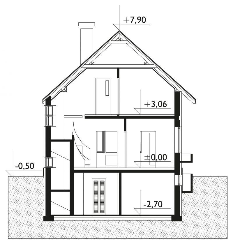 Проект дома Тюлень - зеркальное отражение (E-154)
