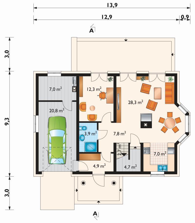 Проект дома Гала Эко (E-879)