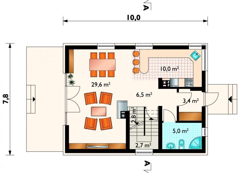 Проект дома Гавр - зеркальное отражение (E-169)