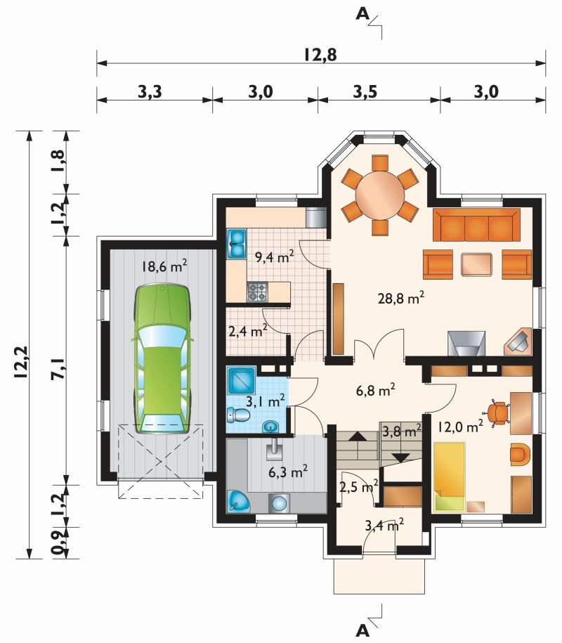 Проект дома Снегирь (E-172)