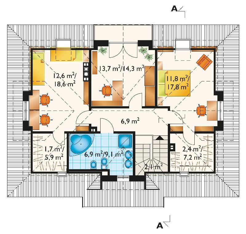 Проект дома Новая Гоздава (E-720)