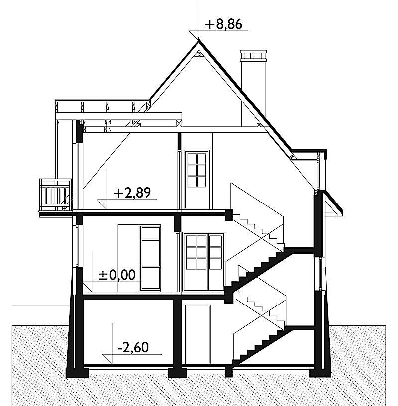 Проект дома Грань - зеркальное отражение (E-179)