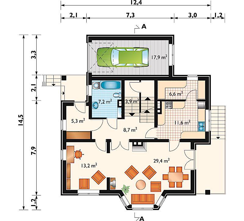 Проект дома Гранит (E-178)