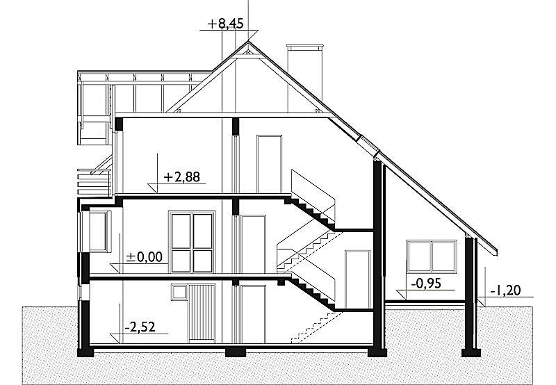 Проект дома Гранит - зеркальное отражение (E-178)