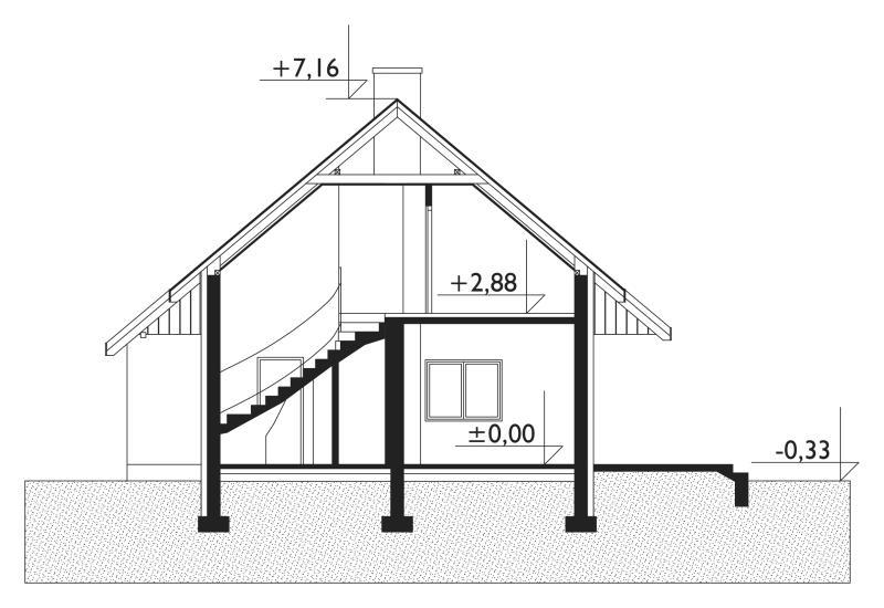 Проект дома Горошек - зеркальное отражение (E-181)