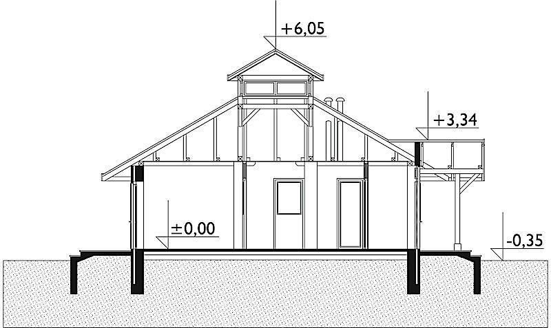 Проект дома Грибок - зеркальное отражение (E-184)