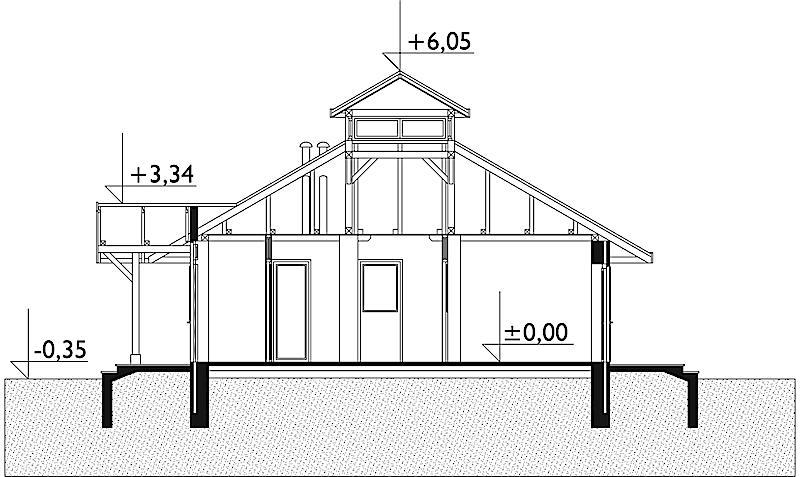 Проект дома Грибок (E-184)