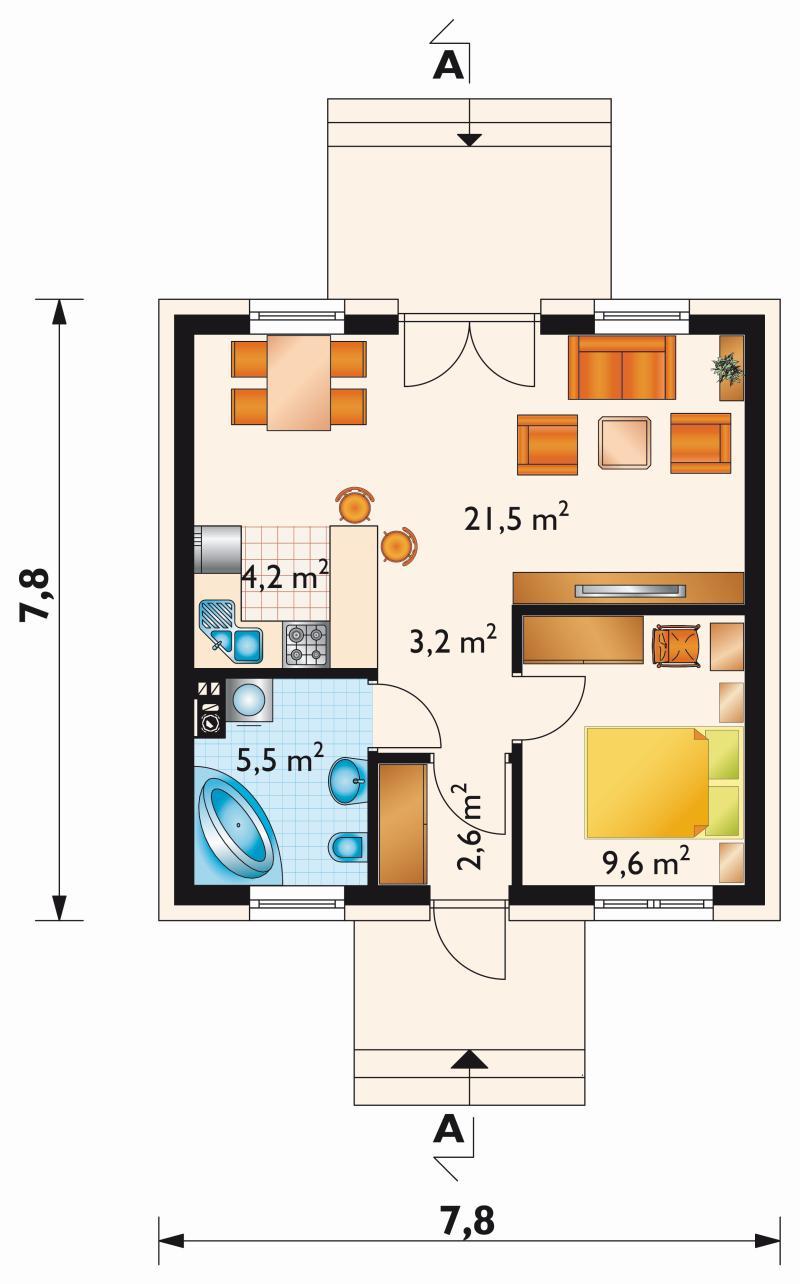 Проект дома Густо (E-1050)