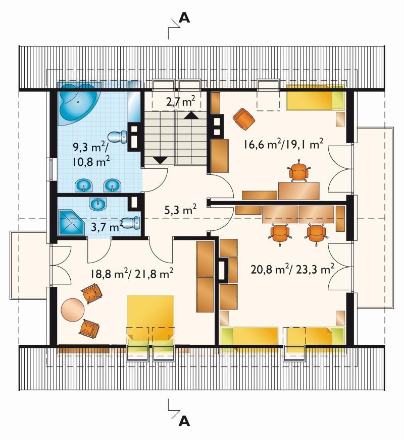Проект дома Верба - зеркальное отражение (E-185)