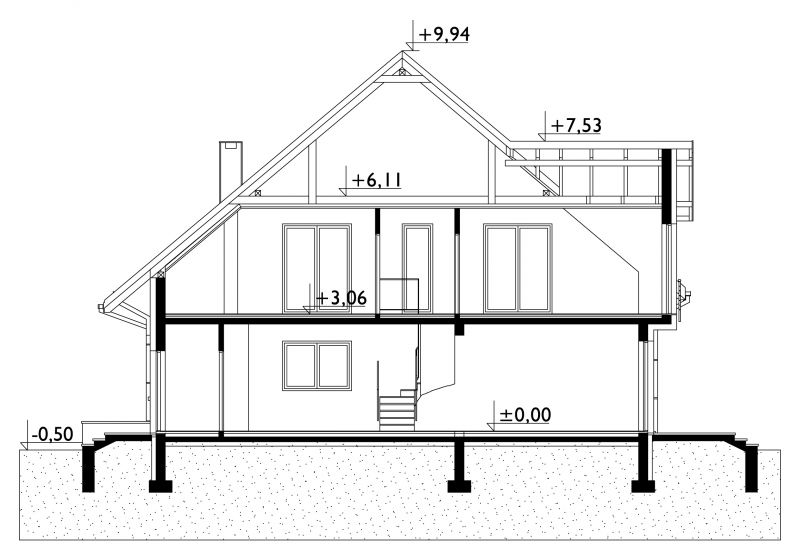 Проект дома Ганна Дуо (E-1244)
