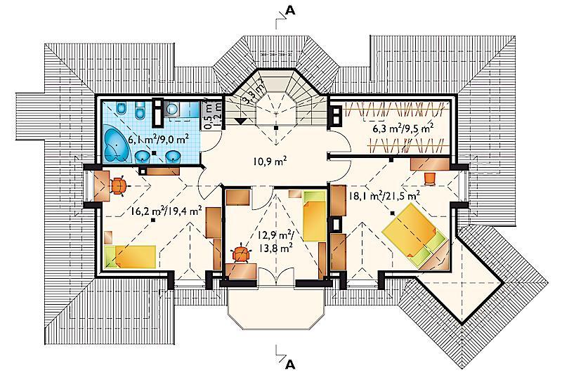 Проект дома Арфа - зеркальное отражение (E-189)