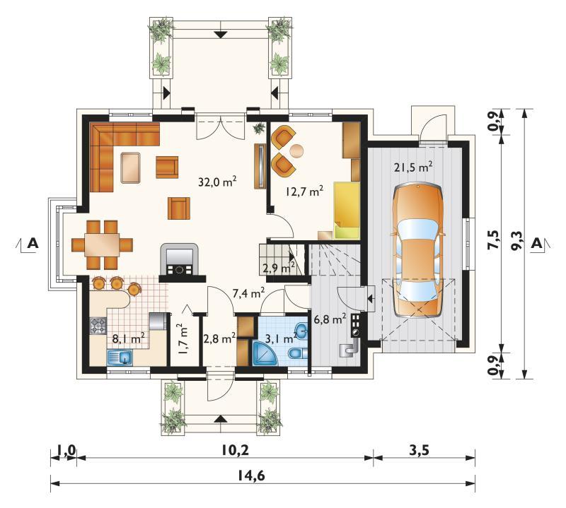 Проект дома Алёна Поло (E-1133)