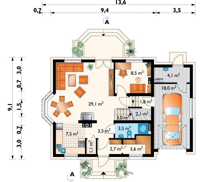 Проект дома Алёна Рекс (E-1093)