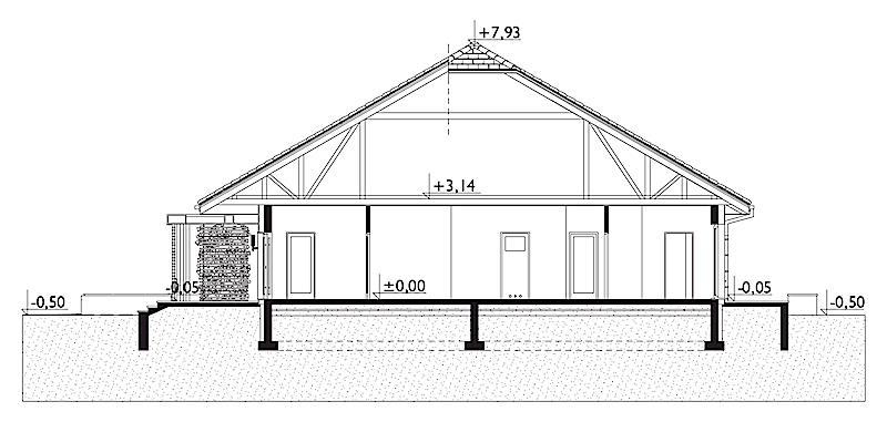 Проект дома Карол - зеркальное отражение (E-1266)