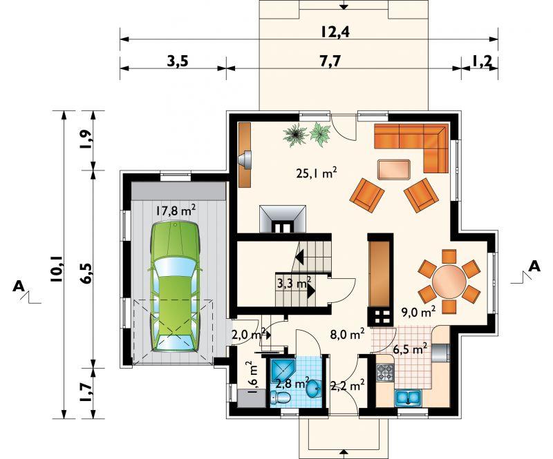Проект дома Колиба - 2 (E-256)