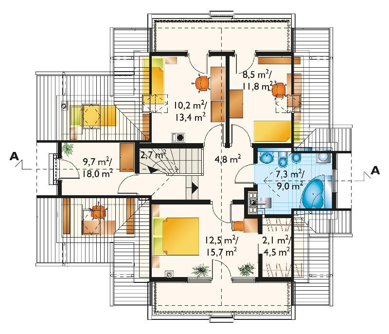 Проект дома Колиба (E-255)