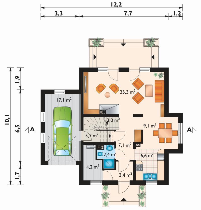 Проект дома Колиба Рекс (E-1027)