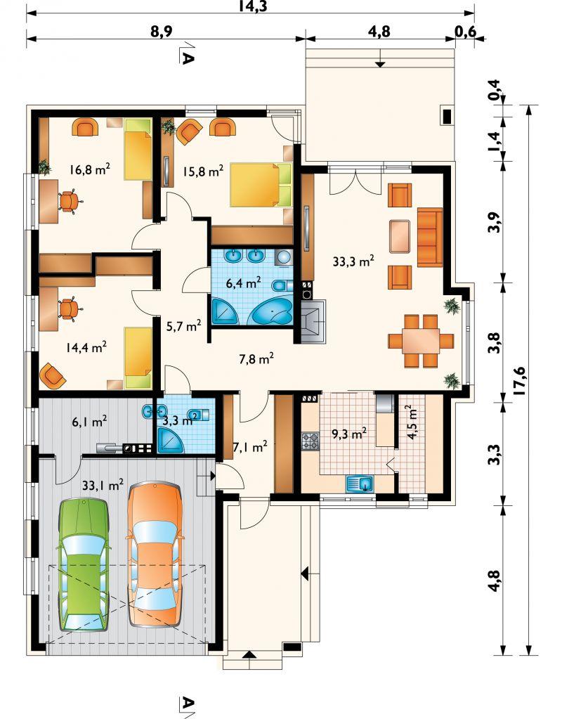 Проект дома Клевер Г2 (E-1129)