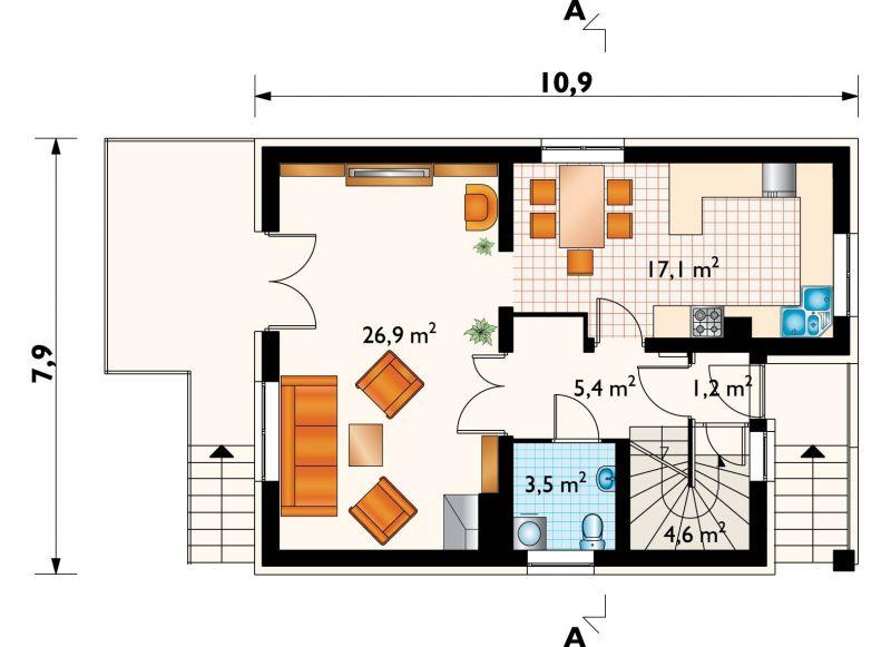 Проект дома Коралик (E-260)