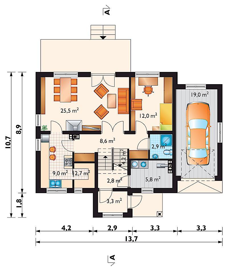 Проект дома Краб Альфа (E-1033)