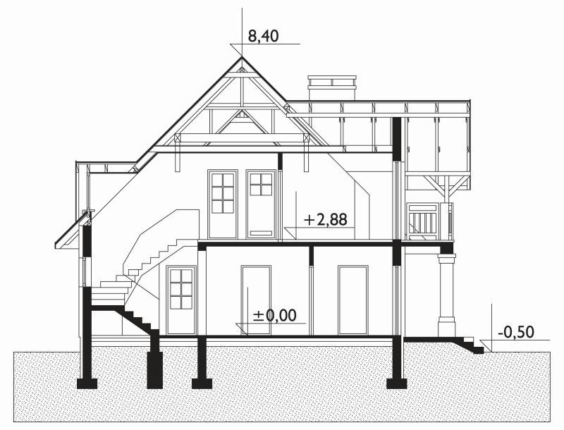 Проект дома Романс - зеркальное отражение (E-286)