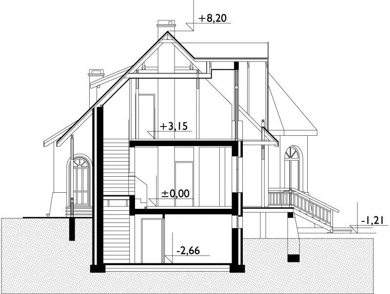 Проект дома Подсолнух - зеркальное отражение (E-287)