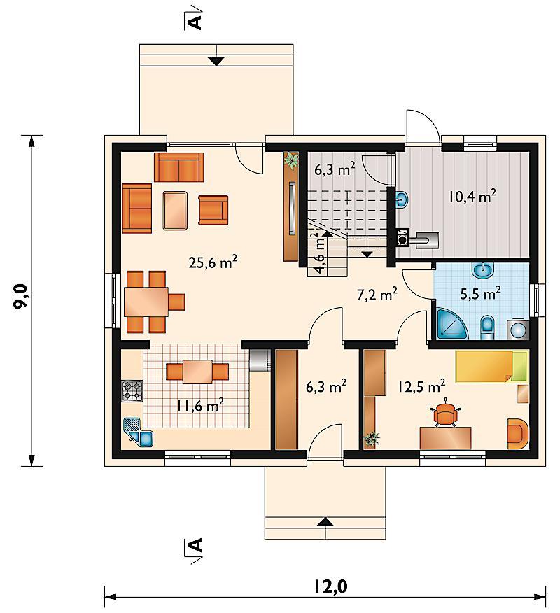 Проект дома Лоретта (E-1103)