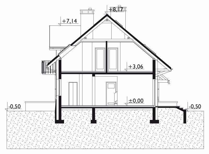 Проект дома Лоретта Поло - зеркальное отражение (E-1120)