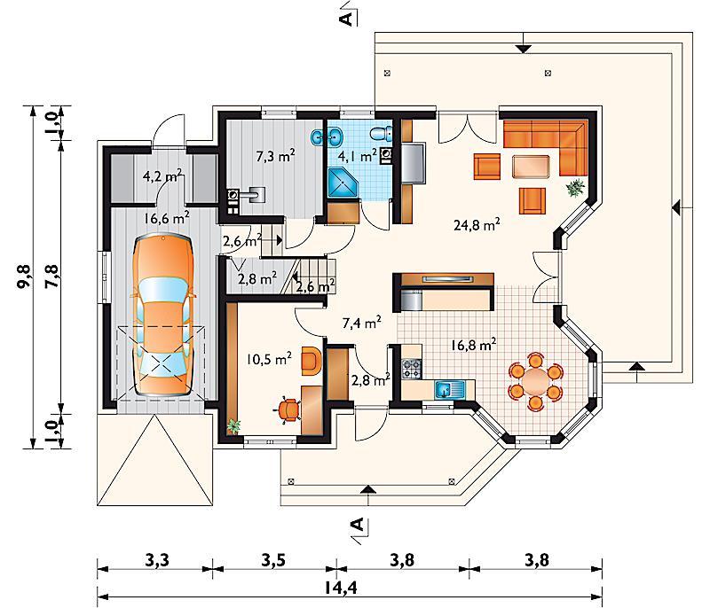 Проект дома Мая Бона (E-933)