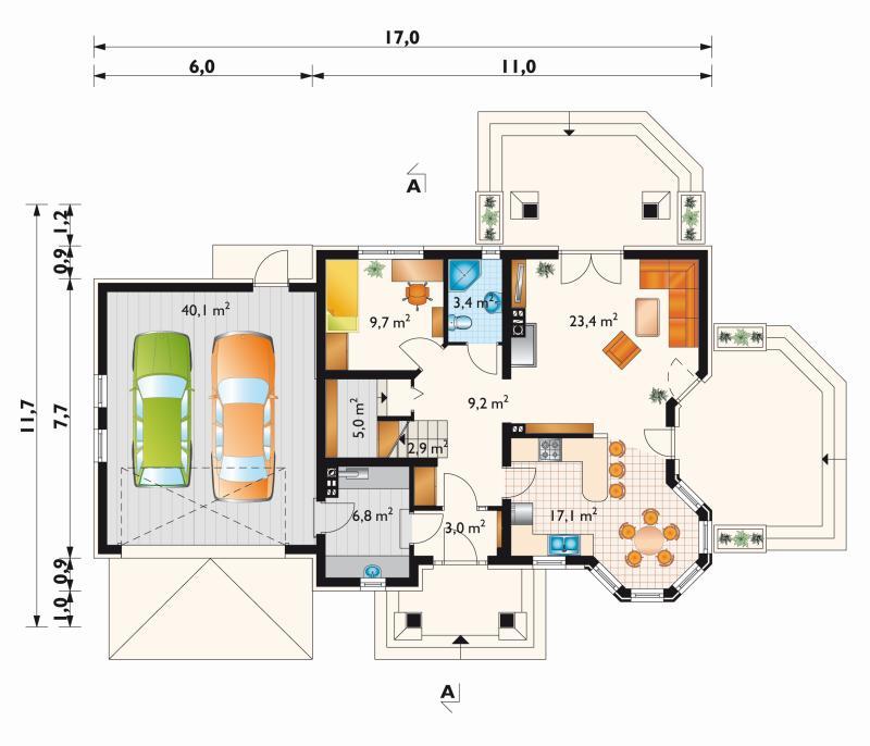 Проект дома Мая Люкс Г2 (E-910)