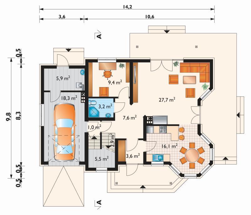 Проект дома Мая Макс (E-868)