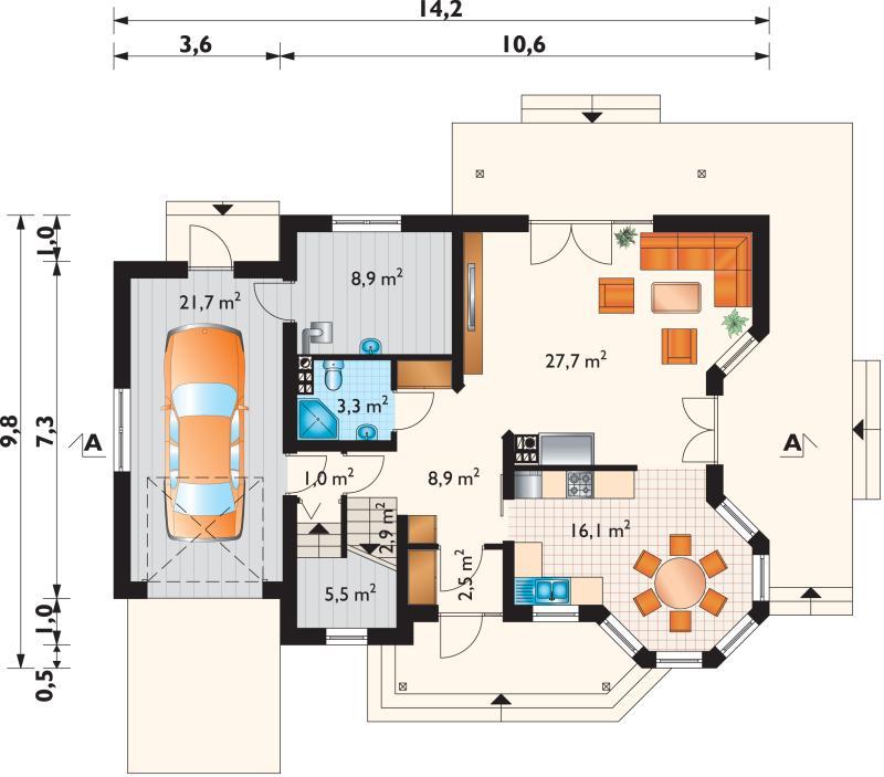 Проект дома Мая Поло (E-869)