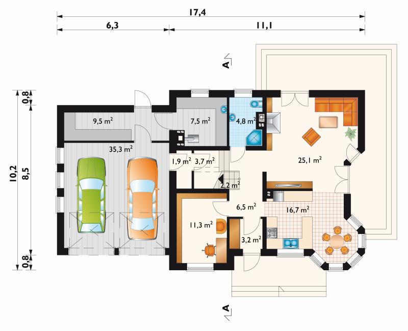 Проект дома Мая Рекс Г2 (E-809)