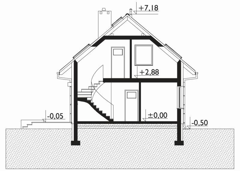 Проект дома Малик - зеркальное отражение (E-1256)