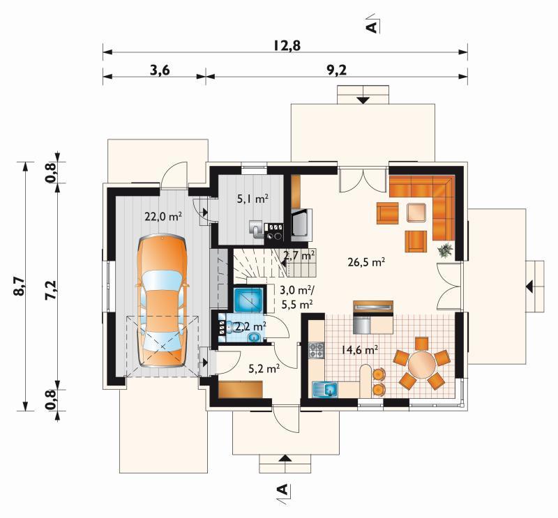 Проект дома Малина Нова (E-1173)